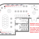 exhibition hall multi zone ir extender example
